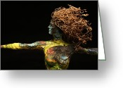 Vine Mixed Media Greeting Cards - Alight a sculpture by Adam Long Greeting Card by Adam Long