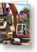 Art Of Building Greeting Cards - American Tractor Greeting Card by Brad Burns