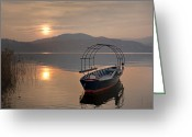 Mood Greeting Cards - an evening at the Lake Maggiore Greeting Card by Joana Kruse