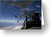 Eagle In Flight Greeting Cards - An F-15 Eagle Pulls Into Position Greeting Card by HIGH-G Productions