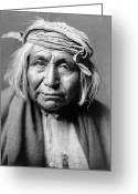 Native American Greeting Cards - APACHE MAN, c1906 Greeting Card by Granger