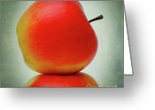 Food And Beverage Digital Art Greeting Cards - Apples Greeting Card by Bernard Jaubert