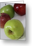 Cultivars Greeting Cards - Apples Greeting Card by Photo Researchers, Inc.