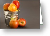 Overflowing Greeting Cards - Apples Greeting Card by Tom Gowanlock