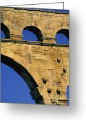 South Of France Greeting Cards - Aqueduc du Pont du Gard.Provence Greeting Card by Bernard Jaubert