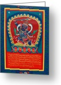 Thanka Greeting Cards - Arya Achala - Immovable One Greeting Card by Sergey Noskov