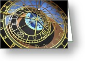 Orloj Greeting Cards - Astronomical Clock, Artwork Greeting Card by Pasieka