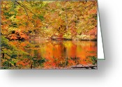 Cuyahoga Greeting Cards - Autumn Reflections Greeting Card by Kristin Elmquist