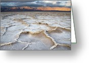California Landscapes Greeting Cards - Badwater Sunrise Greeting Card by Mike Irwin