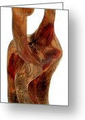 Wood Sculpture Sculpture Greeting Cards - Bailando 2 Greeting Card by Jorge Berlato