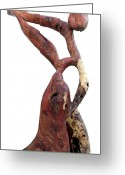Wood Sculpture Sculpture Greeting Cards - Bailando 3 Greeting Card by Jorge Berlato
