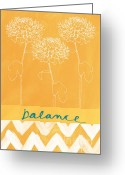 Motivation Greeting Cards - Balance Greeting Card by Linda Woods