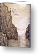 Light Reliefs Greeting Cards - Balancing Act Greeting Card by Linda Carmel