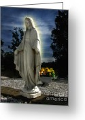 Guardian Angel Greeting Cards - Bask In His Glory Greeting Card by Peter Piatt