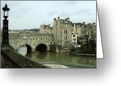 Europe Painting Greeting Cards - Bath England Greeting Card by Ellen Henneke
