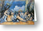Tans Greeting Cards - Bathers Greeting Card by Paul Cezanne