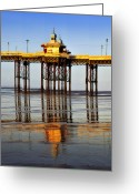 Big Wheel Greeting Cards - Blackpool North Pier Greeting Card by Jason Connolly