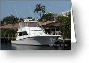 Harbor Living Greeting Cards - Boat Greeting Card by Blink Images