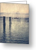 Mooring Greeting Cards - Boat Greeting Card by Joana Kruse