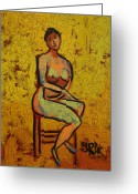 Nude Greeting Cards - Body And Soul Greeting Card by Yulonda Rios