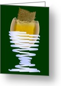 Dipped Greeting Cards - Boiled Egg In An Eggcup, X-ray Greeting Card by D. Roberts