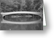 Central Park Photo Greeting Cards - Bow Bridge Central Park Greeting Card by Christopher Kirby