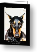 Dobe Greeting Cards - Brown Eyed Girl Greeting Card by Rita Kay Adams