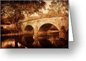 Antietam Greeting Cards - Burnside Bridge Greeting Card by Mick Burkey