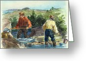 Gold Rush Greeting Cards - California Gold Rush Greeting Card by Granger