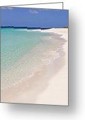Caribbean Sea Greeting Cards - Caribbean beach. Greeting Card by Fernando Barozza