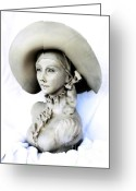 Female Sculpture Greeting Cards - Carleni Greeting Card by Wayne Niemi
