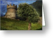 Lonely Greeting Cards - Castle Greeting Card by Joana Kruse
