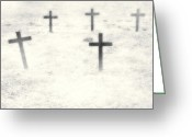 Grave Greeting Cards - Cemetery Greeting Card by Joana Kruse