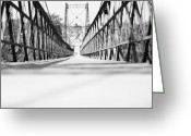 Old Bridge Greeting Cards - 2 Cent Bridge Greeting Card by Chad Tracy