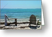 Boca Grande Prints Greeting Cards - Chairs on Beach Greeting Card by Geralyn Palmer
