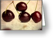 Cherries Greeting Cards - Cherries Greeting Card by Bernard Jaubert