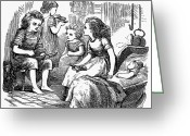 Whittle Greeting Cards - Children, 1873 Greeting Card by Granger