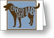 Friend Digital Art Greeting Cards - Chocolate Lab Greeting Card by Geoff Strehlow