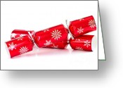 Ribbon Greeting Cards - Christmas crackers Greeting Card by Elena Elisseeva