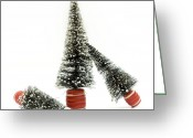 Tree-covered Greeting Cards - Christmas decoration Greeting Card by Bernard Jaubert