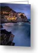 Rough-seas Greeting Cards - Cinque Terre Greeting Card by Brian Jannsen