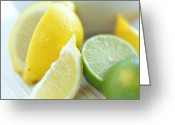 Food And Beverage Greeting Cards - Citrus Fruits Greeting Card by David Munns