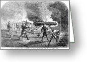 Cannonball Greeting Cards - Civil War: Fort Sumter Greeting Card by Granger