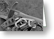 Prowess Greeting Cards - Climbing Gear Greeting Card by Mark Weber