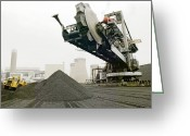 Most Photo Greeting Cards - Coal Supplies For A Power Station Greeting Card by Colin Cuthbert