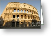 Exterior Buildings Greeting Cards - Coliseum. Rome Greeting Card by Bernard Jaubert