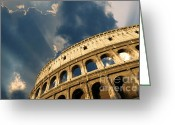 Romans Greeting Cards - Coliseum. Rome. Lazio. Italy. Europe Greeting Card by Bernard Jaubert