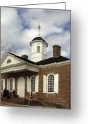 Weathervane Greeting Cards - Colonial Williamsburg Courthouse Greeting Card by Sally Weigand