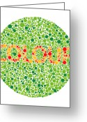 Sensitive Greeting Cards - Colour Blindness Test Greeting Card by David Nicholls