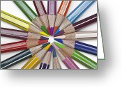 Pointed Greeting Cards - Coloured Pencil Greeting Card by Joana Kruse
